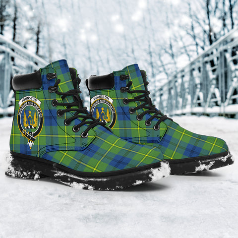 Johnston Ancient Tartan Clan Crest All-Season Boots HJ4