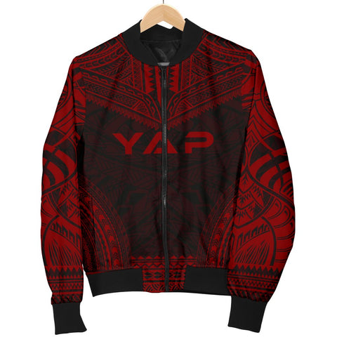 Image of Yap Polynesian Chief Men's Bomber Jacket - Red Version - Bn10