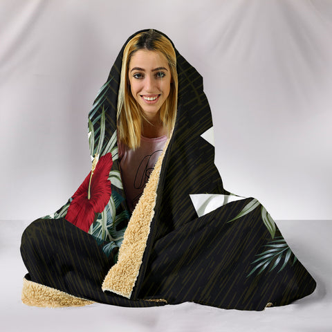Wallis And Futuna Hibiscus Hooded Blanket A7