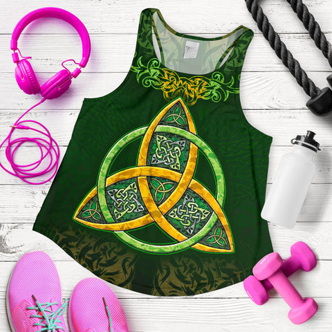 Celtic Knot Women's Racerback Tank - Celtic Green - BN01