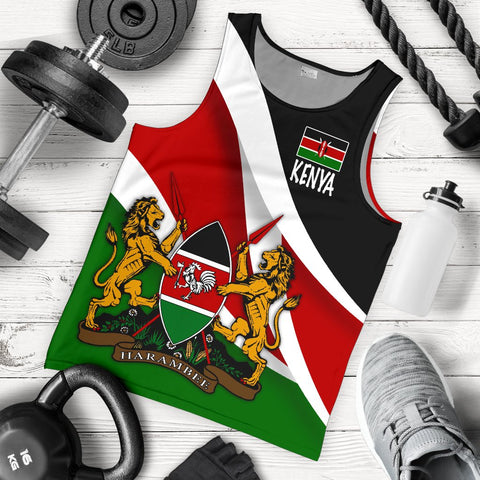 Kenya Impressive Flag Men's Tank Top A15