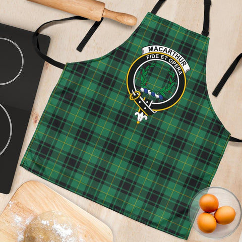Image of MacArthur Ancient Tartan Clan Crest Apron HJ4