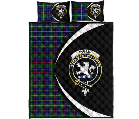 Image of Inglis Modern Tartan Quilt Bed Set Circle HJ4