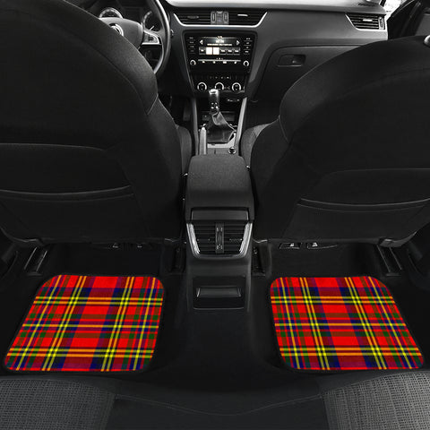 Hepburn Tartan Clan Badge Car Floor Mat 4 Pieces K7