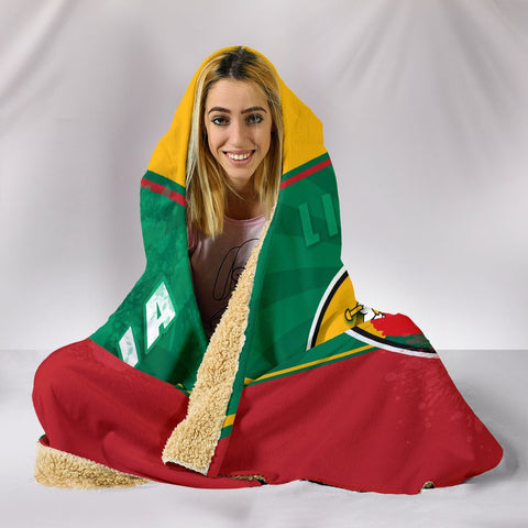 Image of Lithuania - Lietuva Hooded Blanket Circle Stripes Flag Proud Version K13
