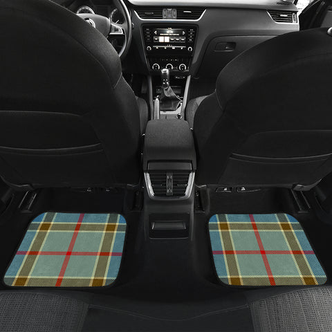 Balfour Blue  Tartan Clan Badge Car Floor Mat 4 Pieces K7