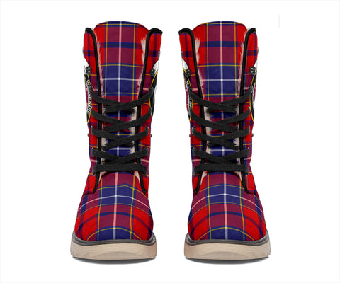 Wishart Dress Tartan Clan Crest Polar Boots Hj4