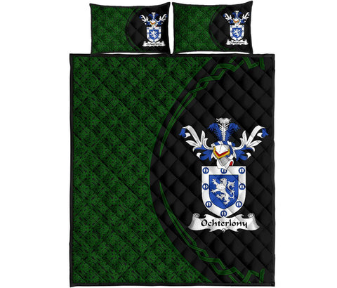 Ochterlony Family Crest Quilt Bed Set Circle Hj4