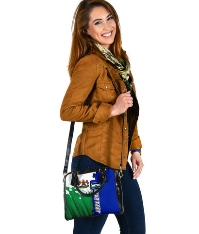 Lesotho Personalised Shoulder Handbag - Independence Day