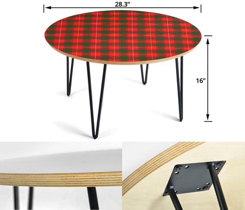 MacFie Tartan Circular Coffee Table - BN