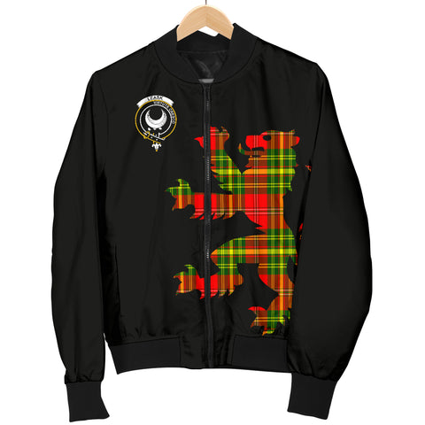 Image of Leask Tartan Lion And Thistle Bomber Jacket For Men Th8