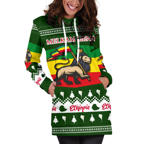 Image of Ethiopia Christmas Hoodie Dress K5