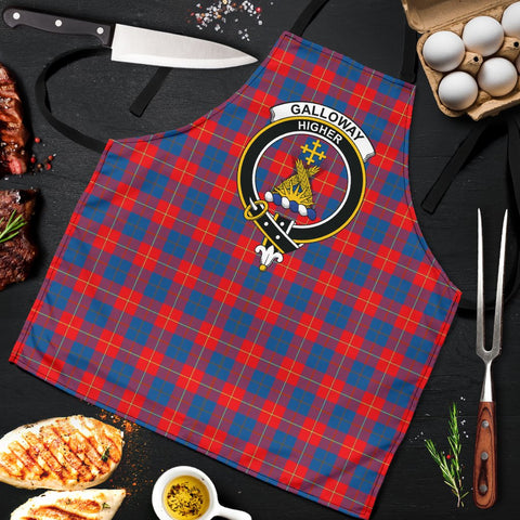 Galloway Red Tartan Clan Crest Apron HJ4