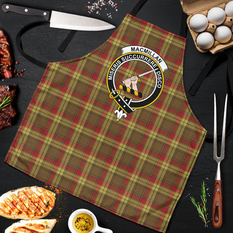 Image of MacMillan Old Weathered Tartan Clan Crest Apron HJ4