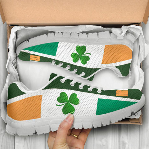 Celtic Sneakers - Ireland Flag With Shamrock, Triskelion and Triquetra - BN21