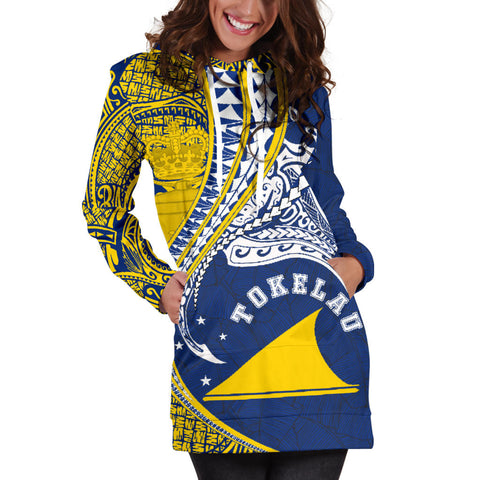 Image of Tokelau Women's Hoodie Dress Manta Polynesian TH65