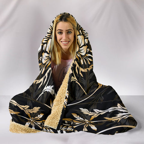 Cairns Hooded Blanket - Gold Scottish Thistle Over 300 Clans