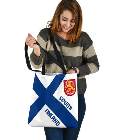 Finland Tote Bag - Finland Flag Style