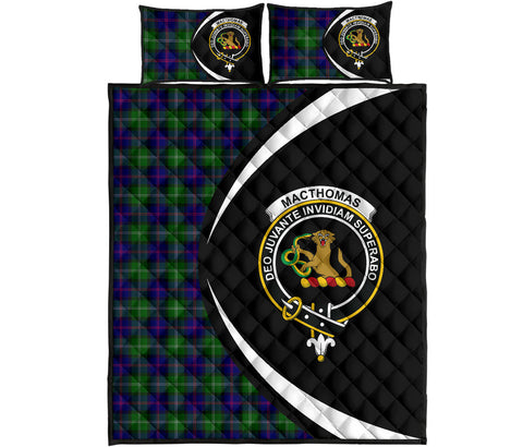 Image of MacThomas Modern Tartan Quilt Bed Set Circle HJ4