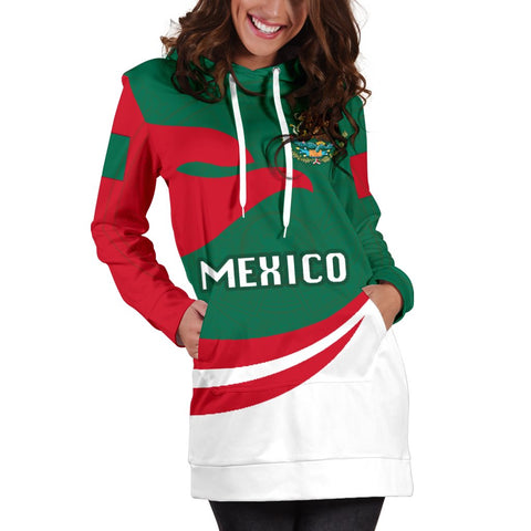 Mexico Women Hoodie Dress Proud Version K4