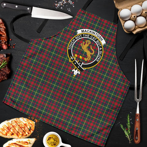MacKintosh Hunting Modern Tartan Clan Crest Apron HJ4