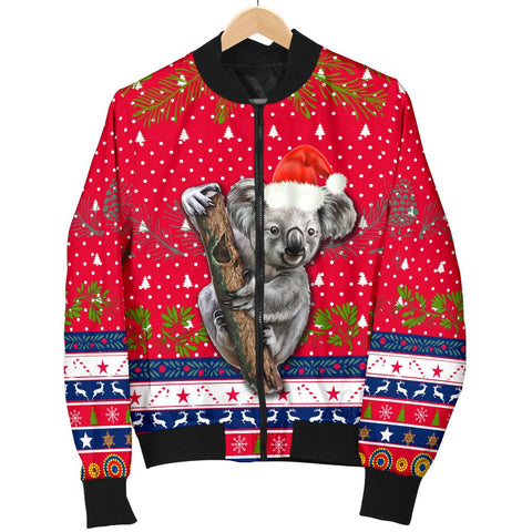Australia Christmas Aboriginal Men Bomber Jacket Koala Version K13