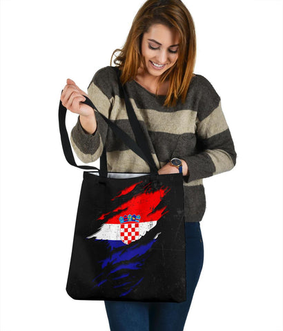 Croatia in Me Tote Bag - Special Grunge Style A7