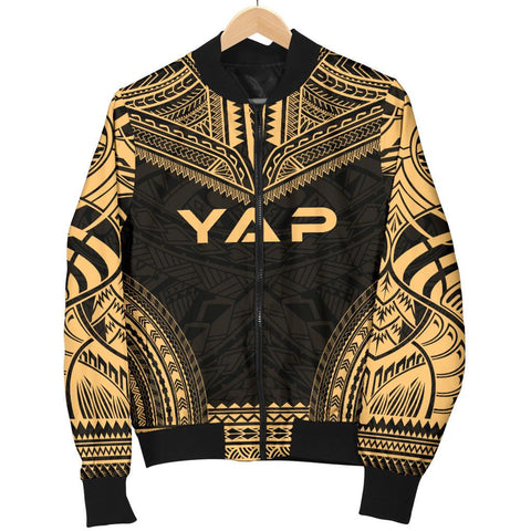 Yap Polynesian Chief Men's Bomber Jacket - Gold Version - Bn10