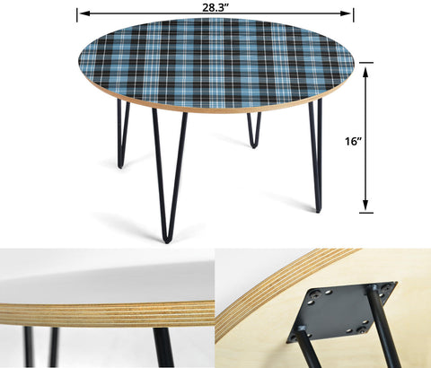 Clark Ancient Tartan Circular Coffee Table - BN