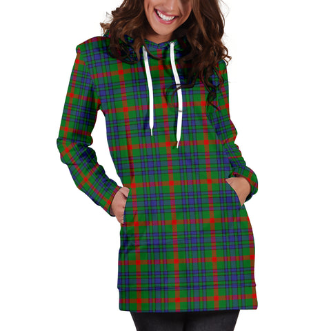 Image of Aiton Tartan Hoodie Dress HJ4