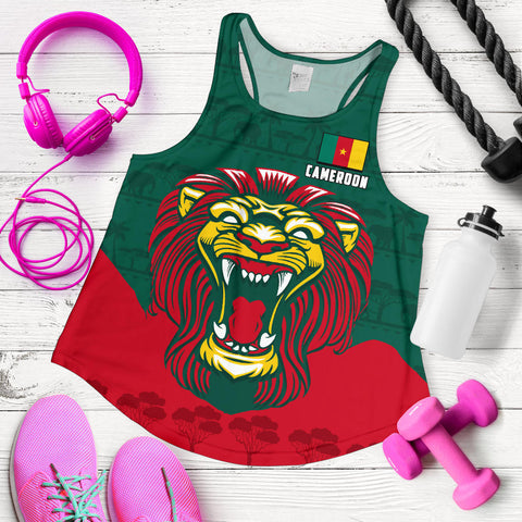 Image of Cameroon Women Racerback Tank Lion