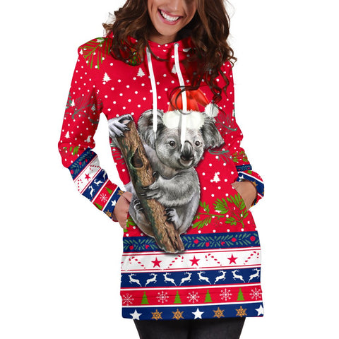 Australia Christmas Aboriginal Women Hoodie Dress Koala Version K13