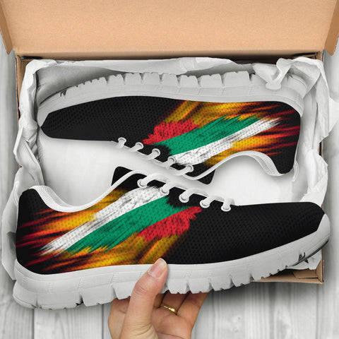 Bulgaria Sneakers - Fire Wings and Flag A188