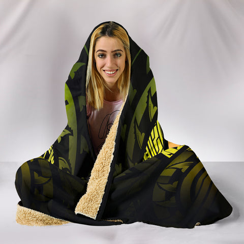 Tahiti Reggae Hibiscus Hooded Blanket | Special Custom Design