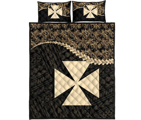 Wallis And Futuna Quilt Bed Set Golden Coconut A02