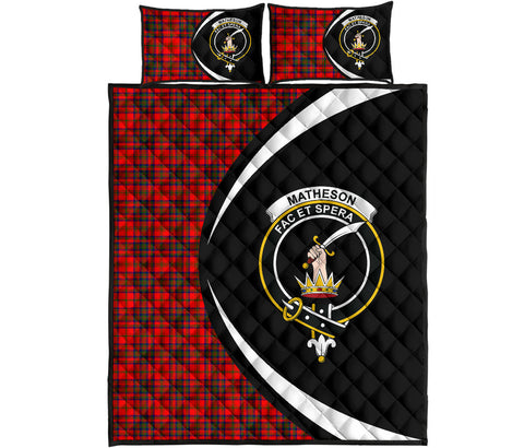 Matheson Modern Tartan Quilt Bed Set Circle HJ4