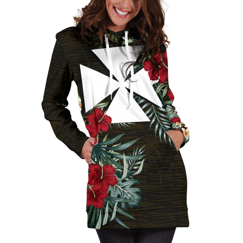 Wallis and Futuna Hibiscus Hoodie Dress A7