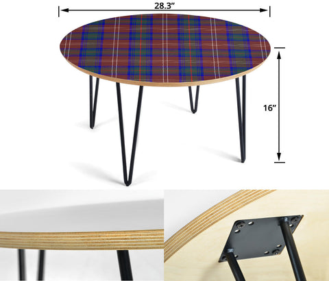 Chisholm Hunting Modern Tartan Circular Coffee Table - BN