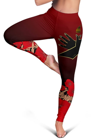 Albania Flag Double Eagle Hand Leggings A15