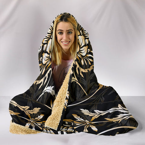 Abercrombie Hooded Blanket - Gold Scottish Thistle Over 300 Clans