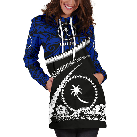 Chuuk Women Hoodie Dress - Road to Hometown K4
