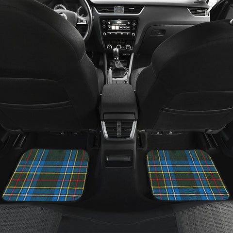 Cockburn Modern  Tartan Clan Badge Car Floor Mat 4 Pieces K7