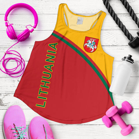 Image of Lithuania Women's Racerback Tank - Curve Version - BN01