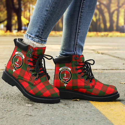 Image of Erskine Modern Tartan Clan Crest All-Season Boots HJ4