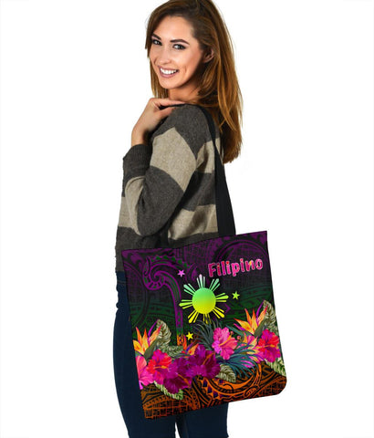 The Phillipines Tote Bags - Summer Hibiscus