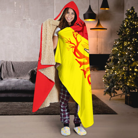 Sicily Flag With Celtic Tree of Life Hooded Blanket - BN21
