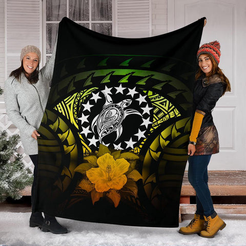 Cook Islands Premium Blanket - Reggae Hibiscus A02