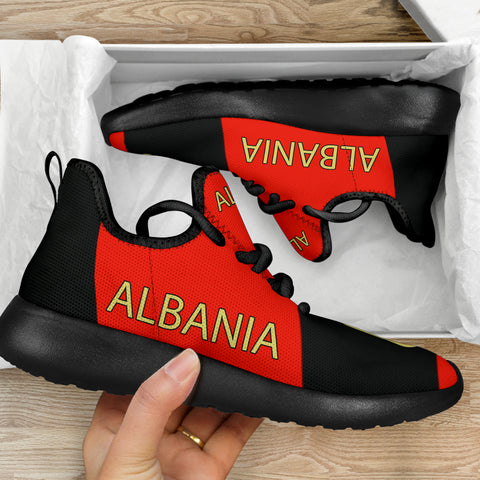 Albania Shoes - Albania Flag Color Mesh Knit Sneakers Sport Th9 - New