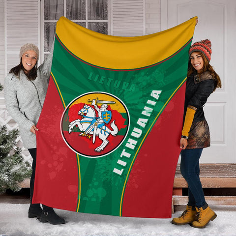 Lithuania - Lietuva Premium Blanket Circle Stripes Flag Proud Version K13