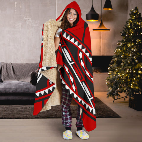 Image of Kenya Lion Hooded Blanket Maasai Shield K4